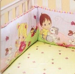 Precious Moments Fitted Crib & Toddler Mattress Bed Bee Bumblebee (Yellow Background)