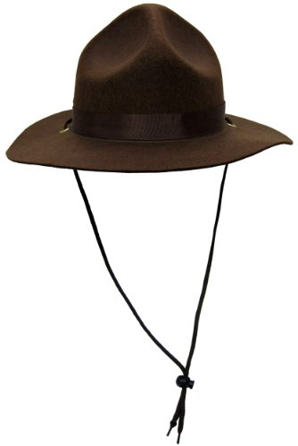 Ranger Or Canadian Mountie Hat,Brown,One Size fits most