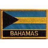 Parche Bordado Bandera Bahamas - 9 x 6 cm