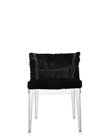 Kartell 0419309 Mademoiselle Kravitz Sessel, Plastik, schwarz, 52.5 x 74 x 50 cm