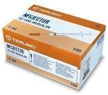 Caja 100x 1ml insulina TERUMO Esterilizado Jeringas - 29G (12mm) Hipodérmica