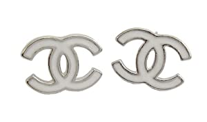 Sterling Silver Plated Fashion Earring White Color,Free Small Stud Earring.