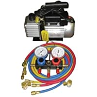 vacuum gauge, FJC, FJC KIT6 Vacuum Pump and Gauge Set