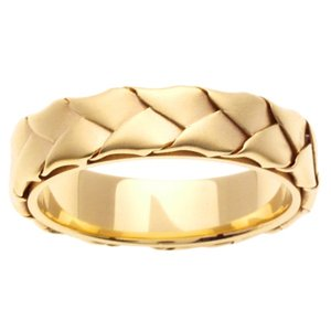 Women's Handmade 14k Yellow Gold Braided Wedding Band (5.00 mm)
