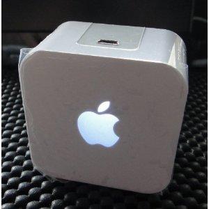 iAudio USB充電式 アンプ内蔵スピーカー(白)apple風