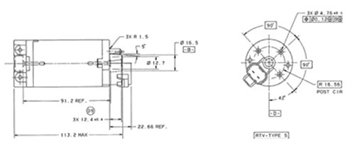 Привод сидений Automotive Seat 12VDC Motor