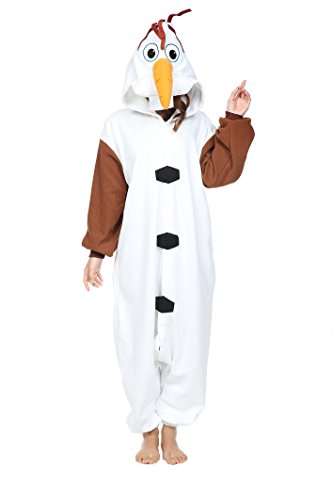 Newcospiay Unisex's Cartoon Clothing Animals Cosplay Costumes (XL, Olaf)