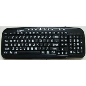 New And Improved: Ezsee By Dc Usb Wired Large Print Keyboard English Standard Qwerty - Black Keys With Bold White Jumbo Oversized Letters / Characters - Visually Impaired, Low Vision, Low Light, Perfect For Seniors And People With Bad Eye Sight, Great In