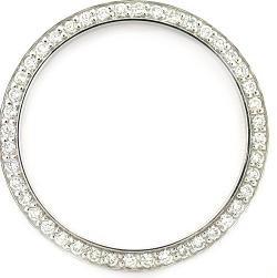 Mens 1.50ct Bead Set Diamond Bezel 18kw for Rolex Super
