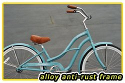 Anti-Rust aluminum frame, Fito Brisa Alloy 1-speed - Sky Blue, Women's Beach Cruiser Bike Bicycle Micargi Schwinn Nirve Firmstrong style