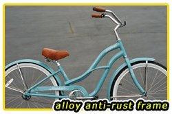 Anti-Rust aluminum frame, Fito Brisa Alloy 1-speed - Sky Blue, Women's Beach Cruiser Bike Bicycle Micargi Schwinn Nirve Firmstrong style