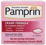 Pamprin Maximum Strength Menstrual Pain Relief Cramp 16-Count
