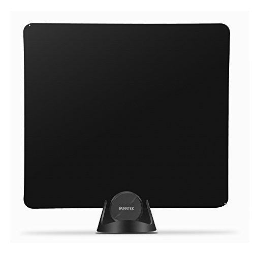 TV Antenna, AVANTEK AR-F13 Amplified Digital Indoor HDTV Antenna with 50-Mile Range Signal Booster