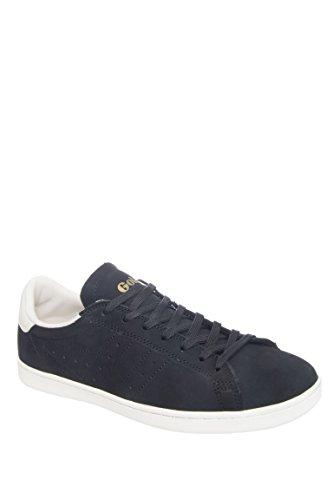 Gola Men's Tennis 79 Casual Sneaker,Black/Off White Nubuck,US 11 M