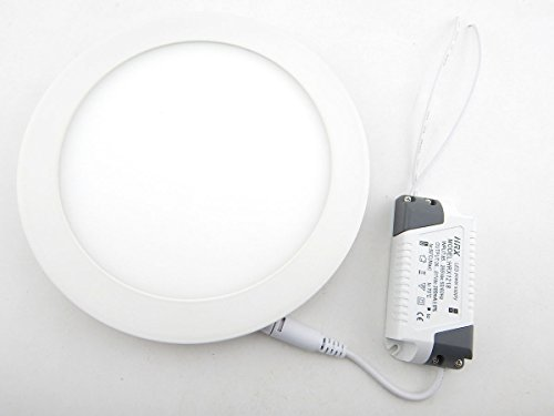 E-Age 15 Watt Round Led Panel Light Recessed Kitchen Bathroom Lamp Warm White Replace 150W Incandescent Bulb Wall Lights