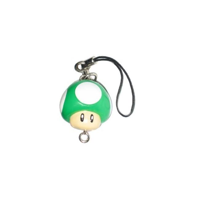Nintendo Super Mario Bros. One Up Mushroom Cell Phone Charm Keychain