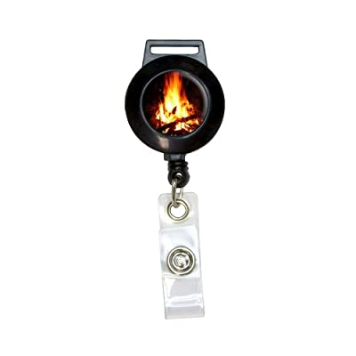 Campfire - Camp Camping Fire Pit Logs Flames Lanyard Retractable Reel Badge Id Card Holder from Graphics and More