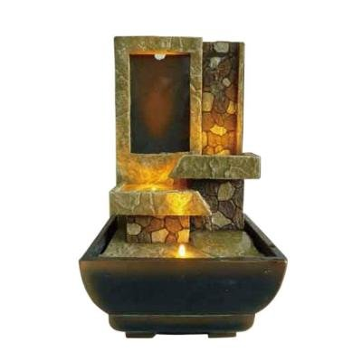 Indoor Harmony Tabletop Stoney Fountain with LED Lighting