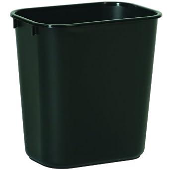 rubbermaid commercial 2955 lldpe 13 5 8 quart deskside small trash can rectangular. Black Bedroom Furniture Sets. Home Design Ideas