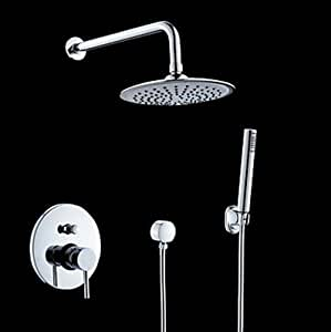 Classic shower faucet with 8 inch shower head hand shower touch on bathroom sink faucets - Shower head for kitchen sink ...