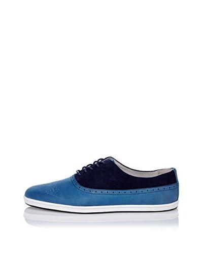 Swear Scarpa Stringata Frank 3 - Blue Leather Blue Suede [Blu]