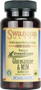 Vegetarian Glucosamine & MSM 60 Veg Caps by Swanson Ultra