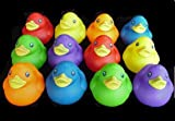 One Dozen (12) Rubber Duck Squeaky Toys ~ Party Favors
