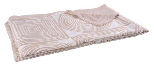 Natur-Fell-Shop-Coperta Spiral circa 160x 200cm Copriletto coperta reversibile, pelliccia ecologica SOFT peluche in crema beige # 295