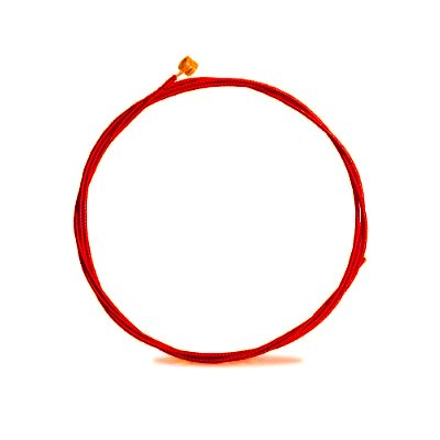 Aurora Electric Strings - E Red Coated And Colored - 10-46