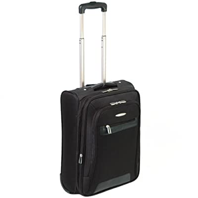 Unicorn Goose Cabin Approved Expandable Ligthweight Luggage Case (Black) H55 x W37 x D19 cm - all parts included