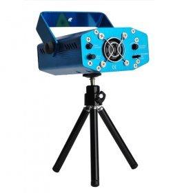 【レーザーステージライト】(グリーン&レッド イルミネーション/照明マシン)(LED DISCO DJ ミニポータブルレーザーライト / ディスコライト・照明・演出/ 舞台照明 / RG CE & RoHS (ブルー)