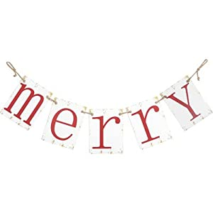 """Large 62.5"""" Retro Style Vintage """"Merry Christmas"""" Metal Banner Decoration by Holiday Designs"""