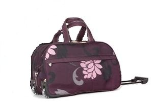 "Ladies Plum 20"" Twin Handle Wheeled Holdall Weekend Bag, Maternity Bag, Hospital Bag, Baby Bag (IDEAL TRAVEL FLIGHT BAG HOLIDAY SPORT GYM BAG,) from holdall"