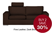 Finn (No Dock) Large Sofa - Leather