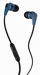 Skullcandy S2IKDY-101 Ink'd 2.0   Earbud Headphones with Mic (Blue/Black)