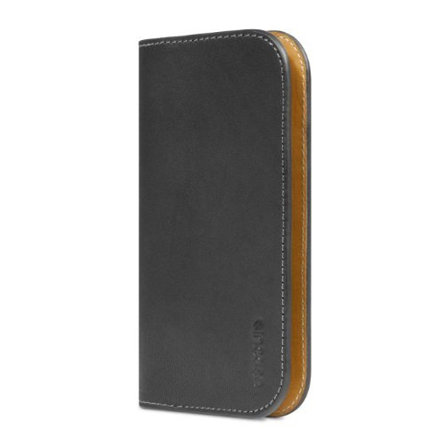 並行輸入品Incase Leather Wallet for iPhone 5S/5 (Black/Tan - ES89067)