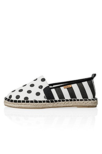 ONLY, Espadrillas basse donna Multicolore multicolore Marshmallow/Dots and stripes 37
