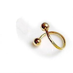 HuaYang Kühl S Twist Nase Lippen Augenbrauen Ring Ohrring Nase Stud Unisex Körper Piercing Schmuck 1 Stück (Golden)