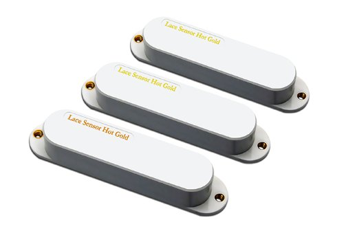 Lace Hot Gold 21153-11Sensor With Hot Bridge Electric Guitar Electronics, 3-Pack