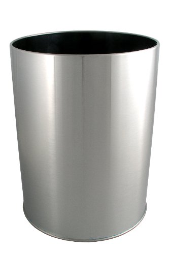 LDR 164 6400BN Ashton Waste Basket, Brushed Nickel (Nickel Trash Can compare prices)