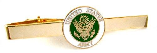 U.S Army Round Military Enamel Seal Tie Bar Clip