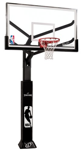 Spalding Arena View In-Ground Basketball System with Glass Backboard, 72-Inch