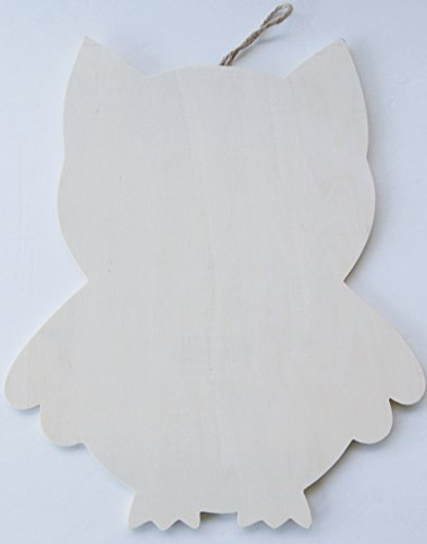Wood Plaque with Hanger - Owl - 1 piece - 1