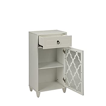 ACME Furniture Acme 97378 Ceara Floor Cabinet, White, One Size