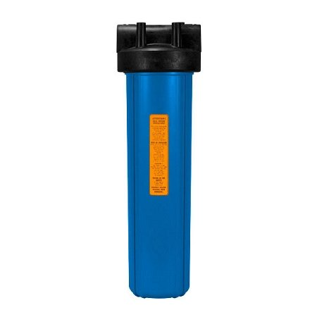 Kemflo FW10000BL1 Heavy Duty Blue Filter Housing for Full Flow/BB 20 inch 4 1/2 inch Cartridge with 1 inch Port