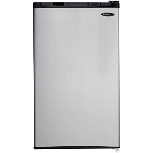 Danby DCR032C1BSLDD Compact Refrigerator, 3.2 Cubic Feet, Spotless Steel (Refrigerator Mini Bar compare prices)