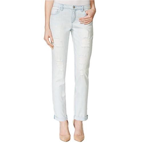 Vintage America Women's Slim Boyfriend Wash Jeans