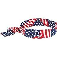 Ergodyne 12303 Chill-Its Cooling Bandana-STAR STRIPE COOL BANDANA