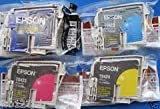 FULL SET Epson Stylus Photo inkjet - C82 CX5200 CX5400 T0321 T0422 T0423 T0424 - Cyan Magenta Yellow Black - loose pack