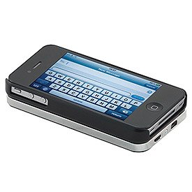 Keystone ECO SLIDER, Bluetooth Keyboard with Sliding Phone Case for iPhone 4S/4